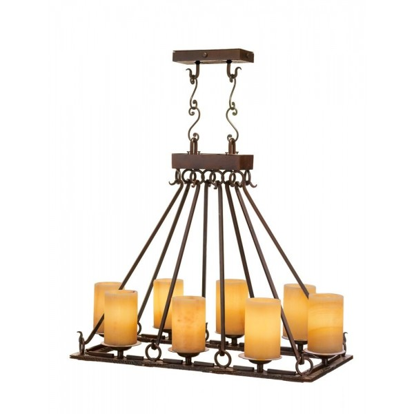 Gothica 8 light chandelier santangelo lighting