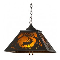 Elk at Dawn Pendant Meyda Lighting