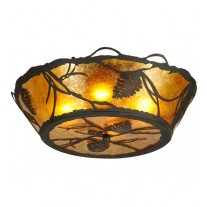 "Whispering Pines Flushmount 24"" Drop Ceiling Meyda Lighting"