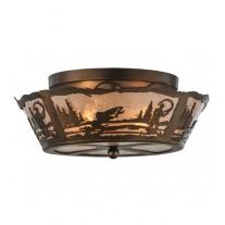 """Fly Fishing Flushmount 16"""" Drop Ceiling Meyda Lighting"""