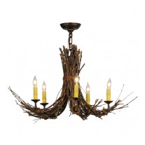 Twigs 28W' Chandelier Meyda Lighting