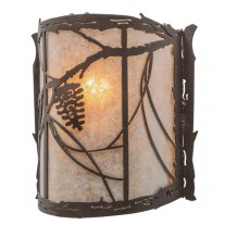 "Whispering Pines 9""W Wall Sconce Meyda Lighting"