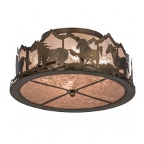 Wild Horses Flushmount Meyda Lighting