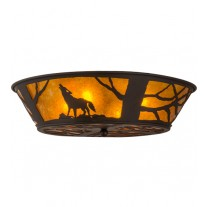 Wolf Northwoods Flushmount Drop Ceiling Meyda Lighting