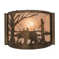 Bear at Lake Wall Sconce Meyda Lighting