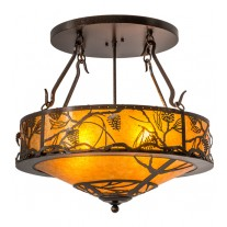 "Whispering Pines 24""W Inverted Drop Ceiling Meyda Lighting"