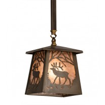 Elk at Dawn Mini Pendant Meyda Lighting