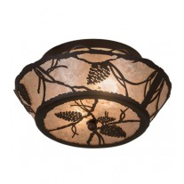 "Whispering Pines Flushmount 16"" Drop Ceiling Meyda Lighting"