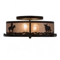 Cowboy & Steer Flushmount Meyda Lighting