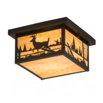 Deer Flushmount Ceiling Light Meyda Lighting