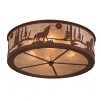 Wolf Flushmount Drop Ceiling Meyda Lighting