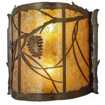 "Whispering Pines 15""W Wall Sconce Meyda Lighting"