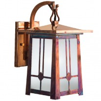 Waverly Craftsman Hook Arm Wall Sconce