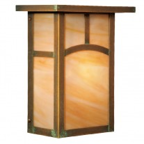 Craftsman Flush Wall Mount Sconce Woodfield