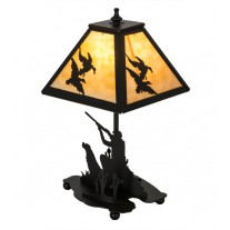 Duck Hunter W/Dog Accent Table Lamp Meyda Lighting