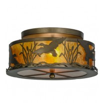 Ducks in Flight Flushmount Drop Ceiling Light Meyda Lighting