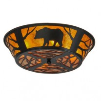 Bear Northwoods Flushmount Drop Ceiling Meyda Lighting