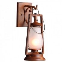 49er Hook Arm Mount Rustic Lantern
