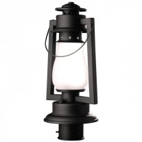 "Pioneer 3"" Post Mount Rustic Lantern"