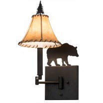 Black Bear Swing Arm Wall Sconce Meyda Lighting