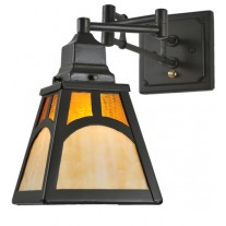 Mission Hill Top Swing Arm Wall Sconce Meyda Lighting