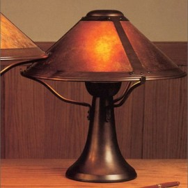Craftsman table lamps lighting outfitters craftsman small trumpet table lamp 008 mica lamp aloadofball Image collections