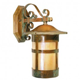 Cottage Holly Scroll Arm Wall Sconce