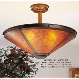 Craftsman Modern Chandeliers Mica Lamp Company