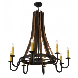 108810 Meyda Barrel Stave Chandelier