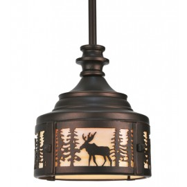 110017 Moose at Dusk Mini Pendant Meyda Lighting