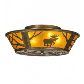 Moose at Dawn Flushmount Drop Ceiling Meyda Lighting