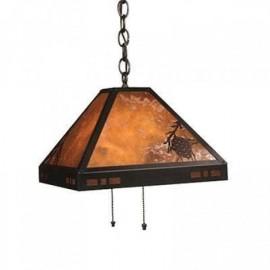 "Craftsman Pasadena 117 14"" Pendant Mica Lamp"