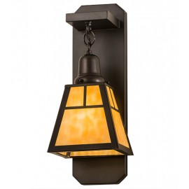 Craftsman Mission Mini Sconce Meyda Lighting