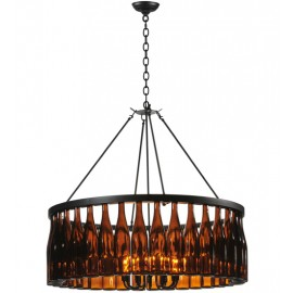 119239 Meyda Tuscan Vineyard Estate Wine Bottle Chandelier