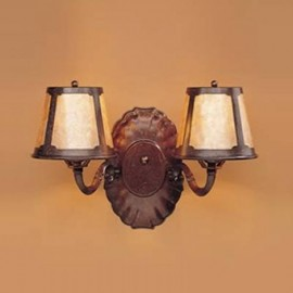 123 Double Wall Sconce Mica Lamp Company