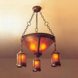 131 Lantern Coppersmith Chandelier Mica Lamp