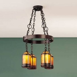 Craftsman 132 Lantern Hoop Chandelier