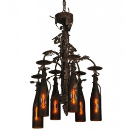 Wine Bottle Chandelier 134136 Meyda Tiffany
