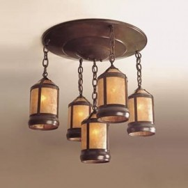 135 Medallion Chandelier Mica Lamp