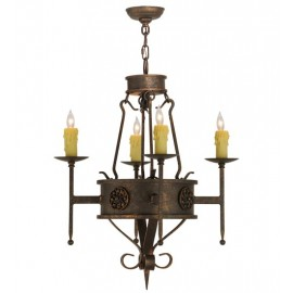 "136537 - 24"" Lorenzo Forged Chandelier"