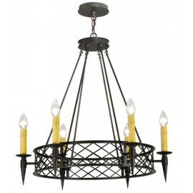 139014 Top Ridge Round Chandelier