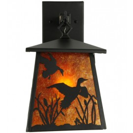 142024 Ducks in Flight Hanging Wall Sconce Meyda