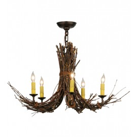145097 Twigs 28W' Chandelier Meyda Lighting