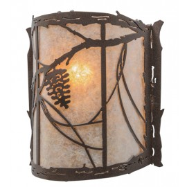 "145311 Whispering Pines 9""W Wall Sconce Meyda"
