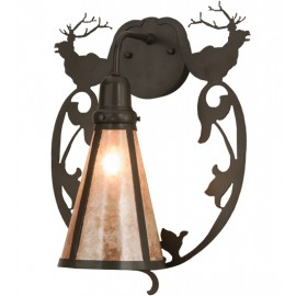 148884 Old world Bavarian Elk Wall Sconce