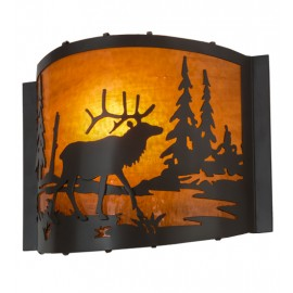 152608 Elk at Lake Wall Sconce Meyda