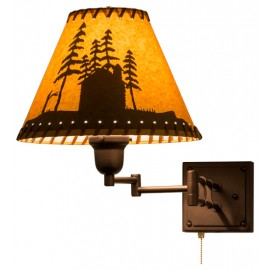 160891 Cabin in the Woods Swing Arm Wall Sconce