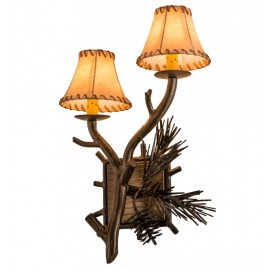 161368 Lone Pine Double Left Wall Sconce