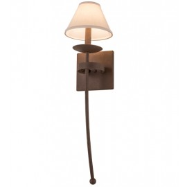 163389 Bechar W/Fabric Shade Wall Sconce Meyda