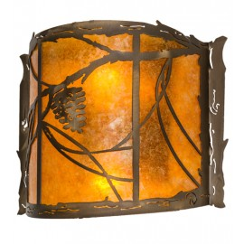 "Whispering Pines 12""W Wall Sconce Meyda Lighting"